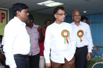 Our CMD and Chief Guests visiting the blood donation activities at the Camp hall on 02.10.2016